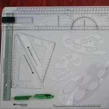 A3 tegnical drawing board + assesories