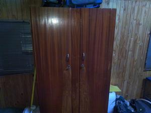 Wooden clothing cabinet