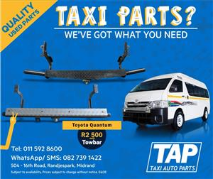 Toyota Quantum TOWBAR - Taxi Auto Parts quality used spares - TAP