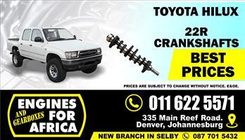 New Toyota Hilux 22R 2.4L Crankshaft FOR SALE