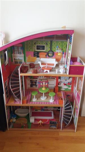 Indoor play house with furniture for sale.
