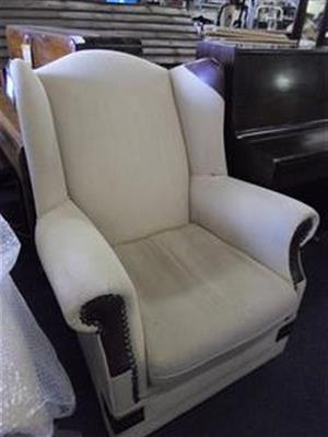 Material Wingback Chair