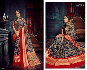 antra tarana vol 3 by lifestyle chiffon brasso party wear fancy saree wholesale price
