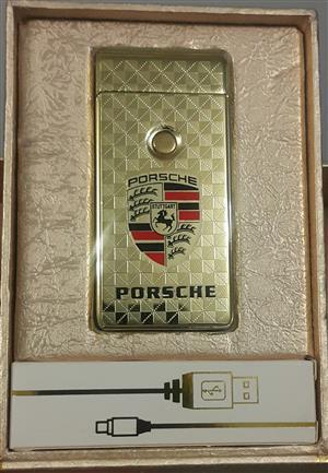 Porsche Electronic Rechargeable Lighter (Golden)