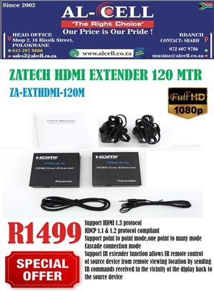 ZA-TECH HDMI EXTENDER 120 MTR