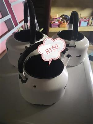 3 Piece vintage camping teapot set