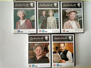 Agatha Christie Film Collection. See the picture for more details. R250 for all five. Or R60 each. I am in Orange Grove.