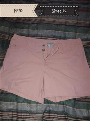 Pink size 12 shorts for sale