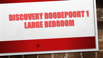 DISCOVERY ROODEPOORT 1 Large bedroom to let