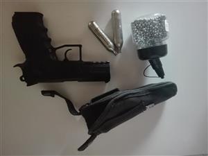 c02 metal hand gun