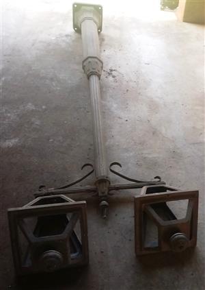 Ledbury Longford Column, Double Bracket and 2 x Grosvenor Lamps