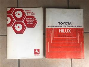 Toyota Hilux YN55 , YN56  Chassis & Body Repair Owners Manual & Brake and Clutch Systems. R400