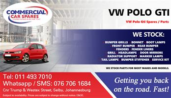 VW Polo Gti Parts and Spares For Sale.