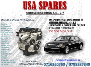CHRYSLER SEBRING 2.4 – 2.7 ENGINES AND ENGINE PARTS