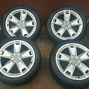 AUDI A3 OEM 17IN MAGS & TYRES
