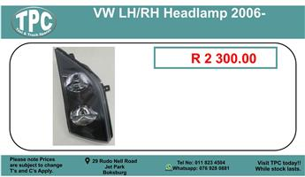 Vw LH/RH Headlamp 2006- For Sale.