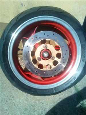 1 Complete scooter front wheel for sale