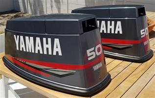 Yamaha two stroke outboard motor cowl stickers decals vinyl cut graphics