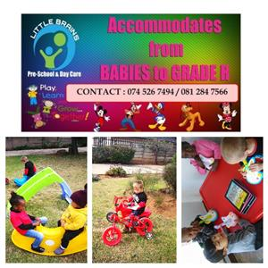 Now recruiting from babies to grade R. Address 302 Ondekkers Park Roodeport