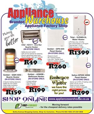 Appliance Warehouse - SHOP ONLINE NOW!