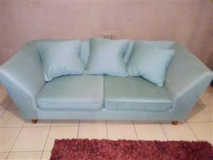 Minr green 3 seater couch for sale.
