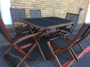 6 seater table and 6 chairs
