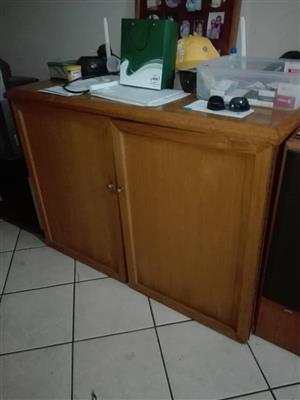 2 Door wooden cabinet for sale