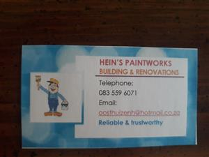 Reliable renovations and paintworks.