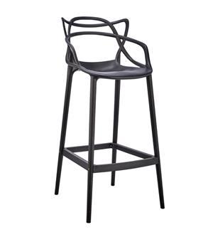 Plastic Web Bar Stool – Black and White