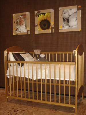 Imported cot in solid wood