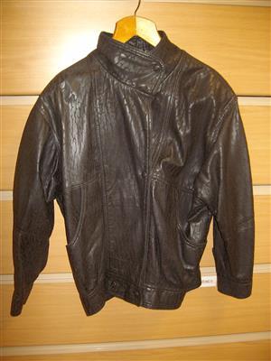 Leather Jacket & Skirt