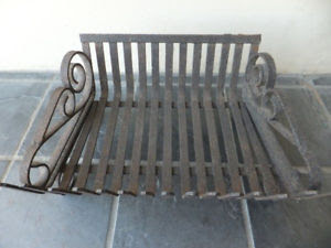 Compact Cast Iron Fireplace grate with scroll ends
