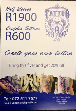 Ian Yallop Tattoo Studio - Custom design tattoo's
