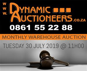 MONTHLY WAREHOUSE AUCTION
