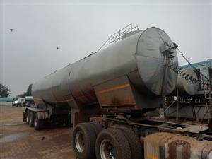 Used 2000 Samtor 28 000LT Tri Axle Stainless Steel Milk Tanker for sale