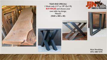 ONE WEEK SPECIAL ON OUR GIANT LIVE EDGE TABLES