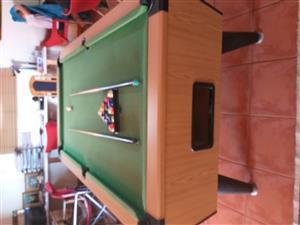 Slate base pool table