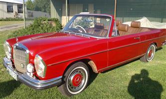 1972 280se W108 Mercedes
