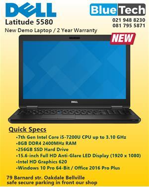 NEW DELL Latitude E5580 - 15.6-inch - SSD - DDR4 RAM - 24 Month Warranty