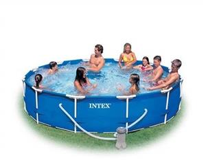 INTEX 3.66m x 76cm Metal Frame Pool Set