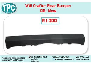 VW Crafter Rear Bumper 06- New for Sale at TPC