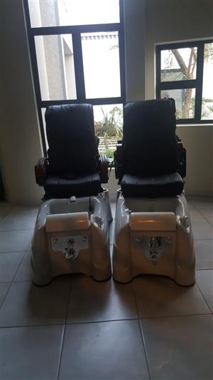 Second-hand pedicure chairs with massage