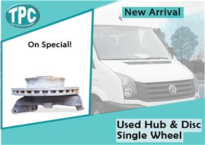Volkswagen Crafter Used Hub & Disc Single Wheel for sale at TPC