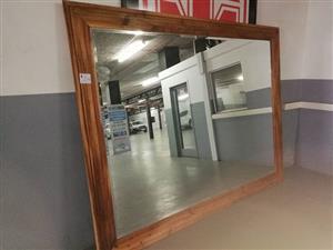 Blackwood beveled mirror