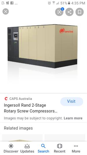 Ml 250 Ingersoll Rand screw compressors