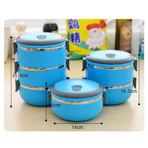 3 Layers Stainless Steel Insulated Lunch Box Food Container with Lock Clip