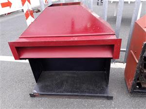 Red and black fireplace for sale