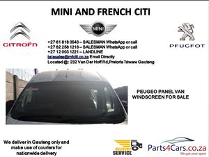 peugeot panel van windscreen for sale