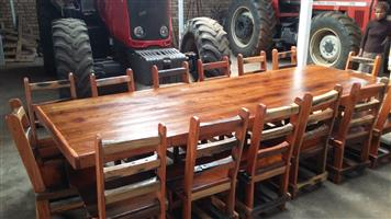 12 Seater dining room table