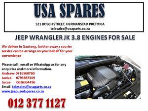 JEEP WRANGLER JK 3.8 ENGINES FOR SALE